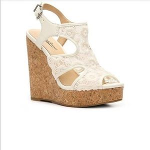NEW Lucky Brand Ranette Ivory Lace Cork We…
